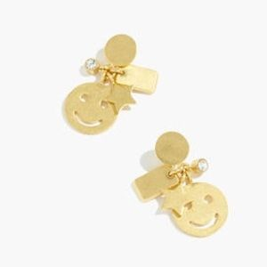 Madewell Smiley Face Cluster Earrings